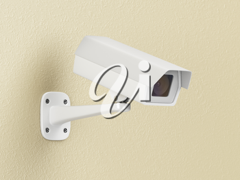 Modern CCTV camera on the wall