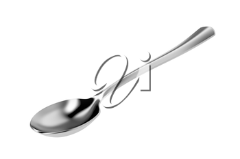Spoon isolated on white background, 3D illustration