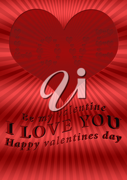Royalty Free Clipart Image of a Valentine's Day Background