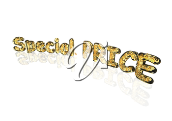 Word Special price made from many percentage symbols.