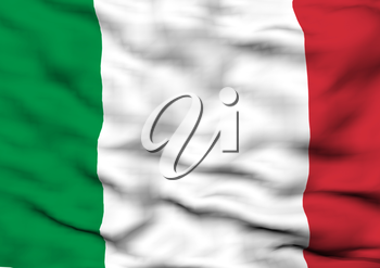 Image of a waving flag of Italy