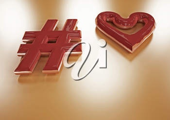Dimensional inscription of heart and heart near it.