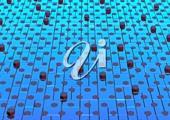 Abstract shape pattern metal background 3d rendered