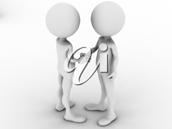 Royalty Free Clipart Image of a Handshake