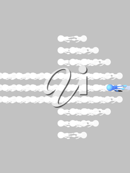 Royalty Free Clipart Image of an Arrow on a Grey Background