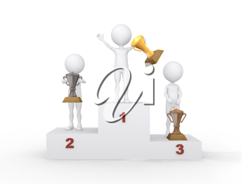Royalty Free Clipart Image of an Award Ceremony