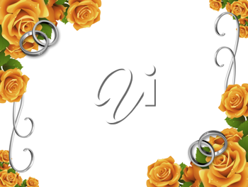Royalty Free Clipart Image of a Flower Frame