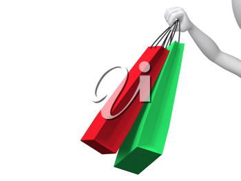 Royalty Free Clipart Image of Shopping Bags
