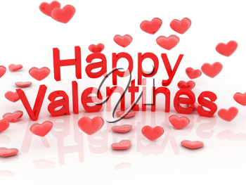 Royalty Free Photo of a Happy Valentine's Day Greeting