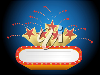 Royalty Free Clipart Image of a Cinema Sign