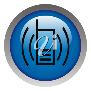 Royalty Free Clipart Image of a Mobile Phone Icon