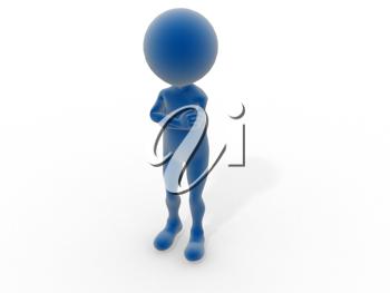 Royalty Free Clipart Image of a Figure With Arms Crossed
