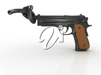 Royalty Free Clipart Image of a Concept for Gun Prohibition