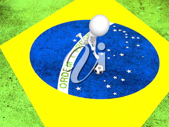Concept for Brazil 2014 football championship.