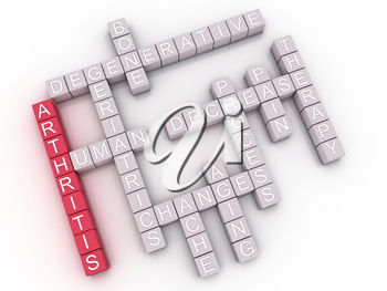 3d image Arthritis  issues concept word cloud background