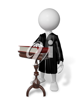 Royalty Free Clipart Image of a Lawyer