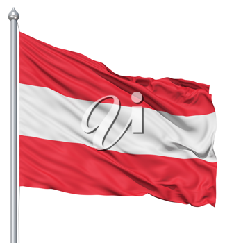 Royalty Free Clipart Image of the Flag of Austria