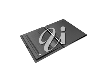 Royalty Free Clipart Image of a  Leather Portfolio