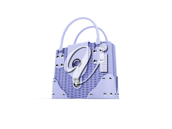 Royalty Free Clipart Image of a Blue Satchel