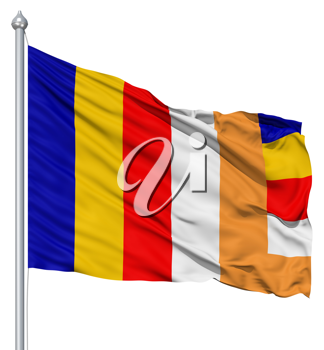 Royalty Free Clipart Image of a the Buddhist Flag