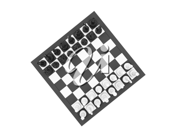 Royalty Free Clipart Image of a Chessboard