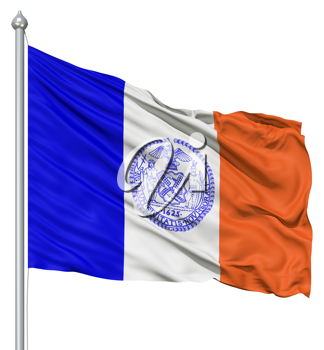 Royalty Free Clipart Image of the Flag of New York City