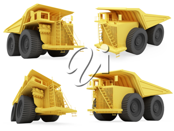 Royalty Free Clipart Image of Trucks