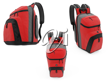 Royalty Free Clipart Image of Backpacks