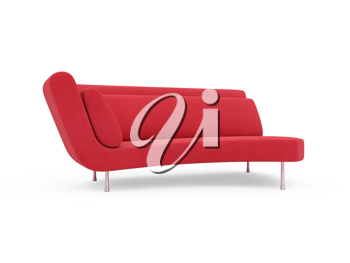 Royalty Free Clipart Image of a Red Couch