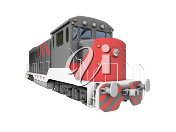 Royalty Free Clipart Image of a Diesel Train