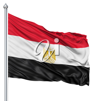 Royalty Free Clipart Image of the Flag of Egypt