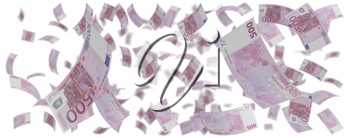 Royalty Free Clipart Image of a Bunch of Euros