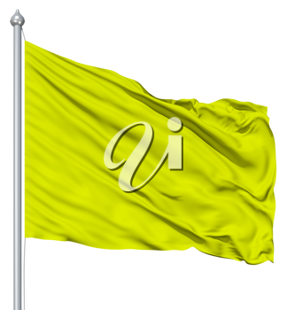 Royalty Free Clipart Image of a Yellow Flag