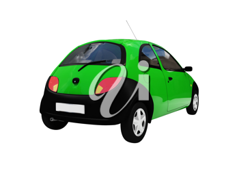 Royalty Free Clipart Image of a Green Car