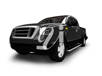 Royalty Free Clipart Image of an SUV