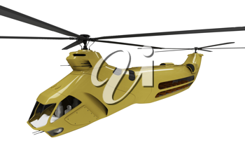 Royalty Free Clipart Image of a Helicopter