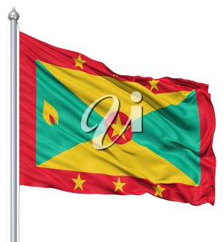 Royalty Free Clipart Image of the Flag of Grenada
