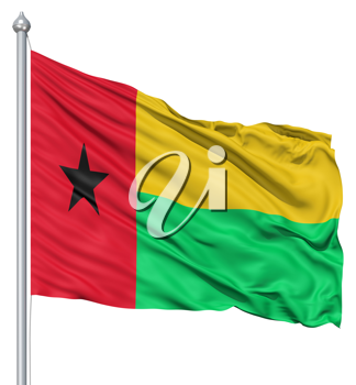 Royalty Free Clipart Image of the Flag of Guinea Bissau