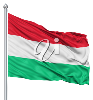 Royalty Free Clipart Image of the Flag of Hungary