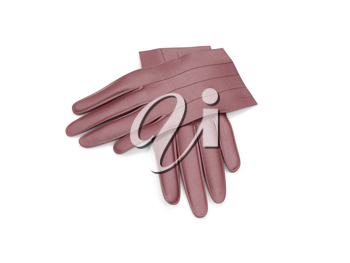 Royalty Free Clipart Image of a Pair of Leather Gloves