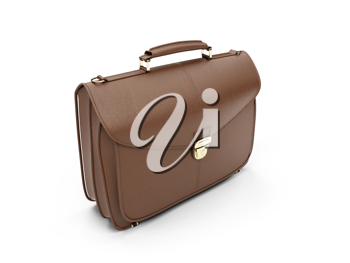 Royalty Free Clipart Image of a Leather Briefcase
