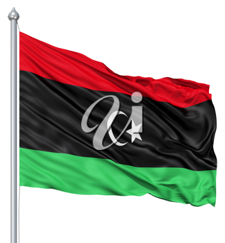Royalty Free Clipart Image of the Flag of Libya