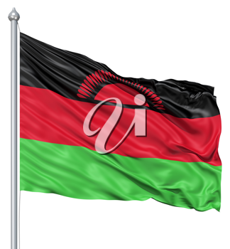 Royalty Free Clipart Image of the Flag of Malawi