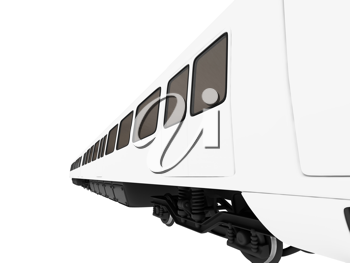 Royalty Free Clipart Image of a Metro Train