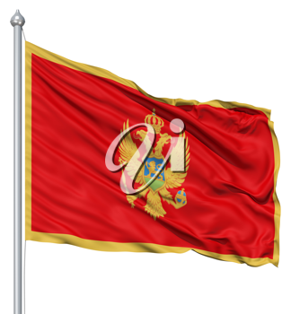Royalty Free Clipart Image of the Flag of Montenegro