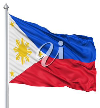 Royalty Free Clipart Image of the Flag of the Philippines