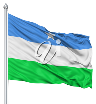 Royalty Free Clipart Image of the Flag of Puntland