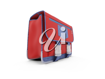 Royalty Free Clipart Image of a Red Bag