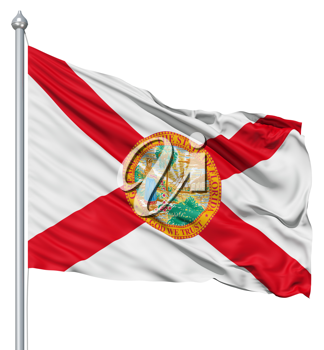 Royalty Free Clipart Image of the Flag of Florida