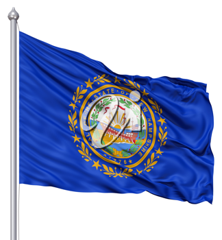 Royalty Free Clipart Image of the Flag of New Hampshire